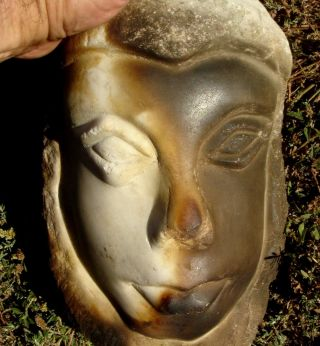Bust: Two Faced - Marble,  Argrigento,  Sicily,  19th Century Find photo