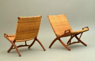 Hans Wegner Folding Chair 512 By Johannes Hansen Mid Century Modern Danish photo
