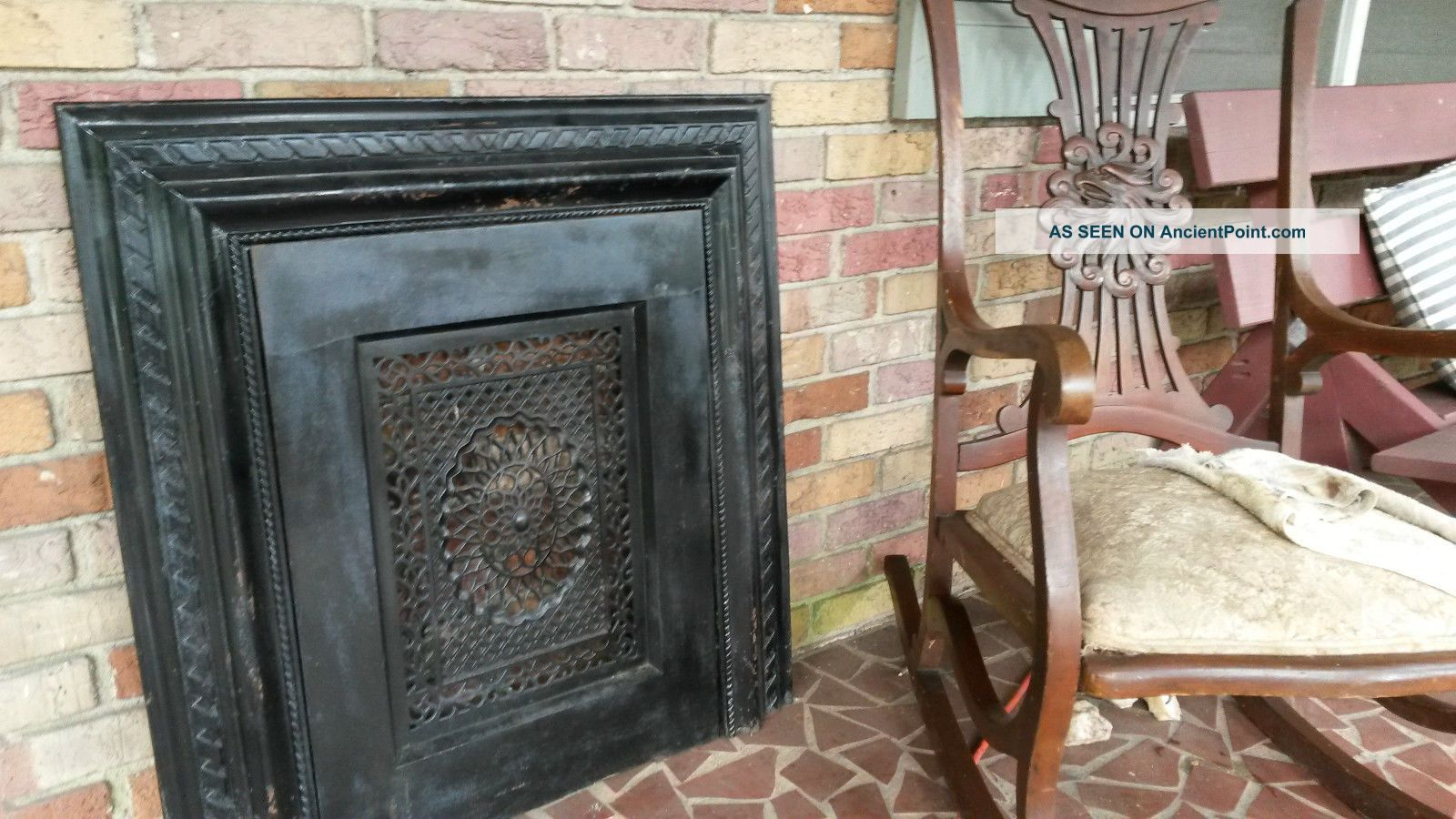 iron fireplace cover. Victorian Cast Iron Fireplace Surround Summer Cover Screen  Round Designs