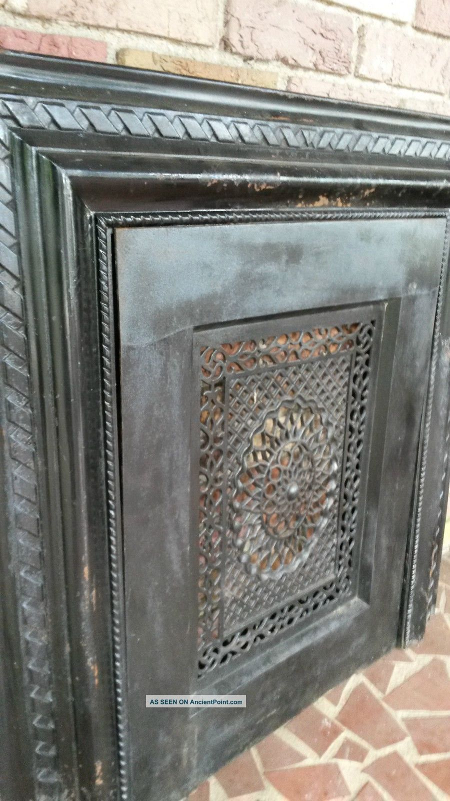 victorian cast iron fireplace surround summer cover screen