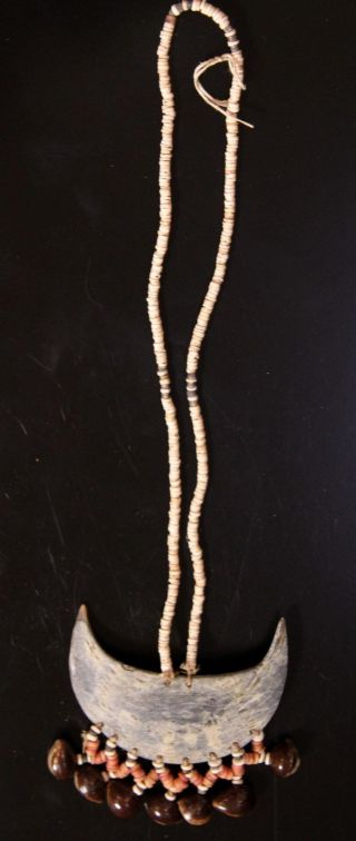 Solomon Island Crescent Currency Necklace photo