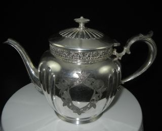 Antique Knickerbocker Silver Co Vintage Teapot Coffee Tea Pot No Monogram 929 photo