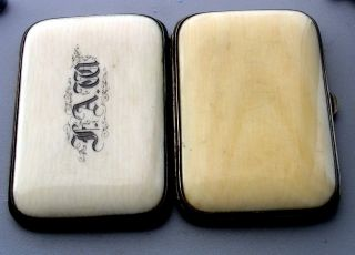 Rare Victorian Hand Carved In Dieppe In France Card Case photo