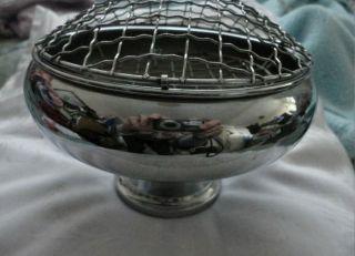 Chrome Rose Bowl Vintage 1960 ' S photo
