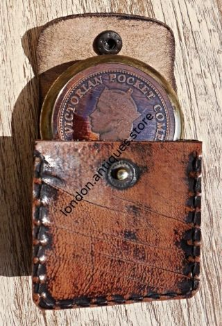 Lovely & Vintage Style Victorian Pocket Compass - Brass Pocket Compass photo