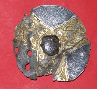 Gold And Silver,  Merovingian Huge Brooch, photo