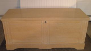 1955 Mid Century Lane Blanket Hope Chest Wheat Blonde Cedar Wood Retro photo