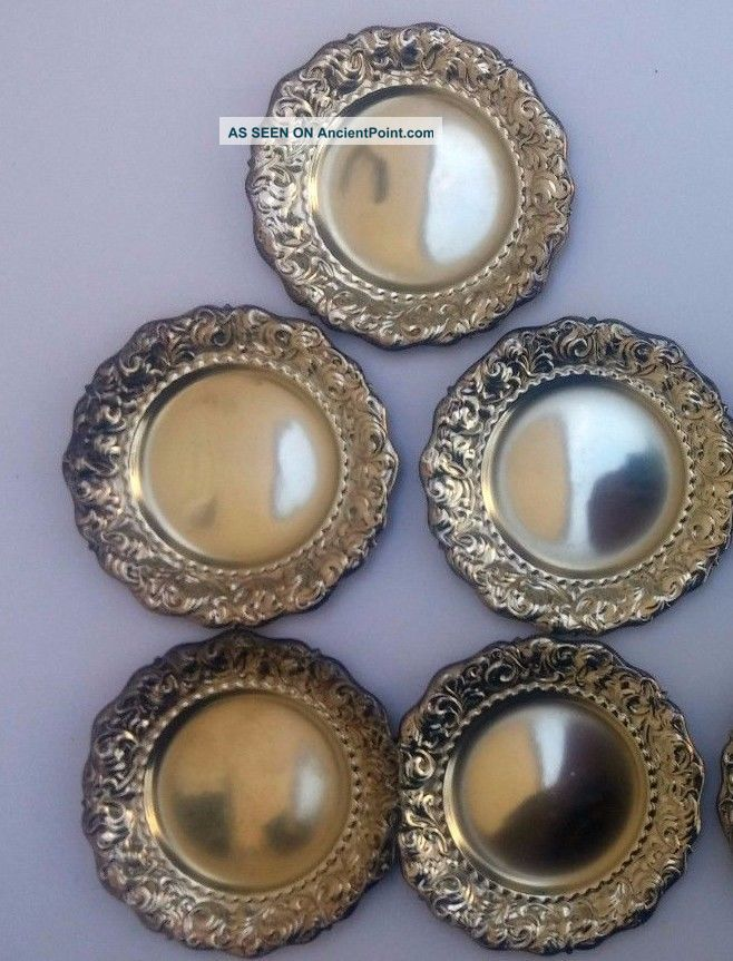 5pc.  Sterling Silver Nut Dish By Whiting Manufacturing Co Dishes & Coasters photo