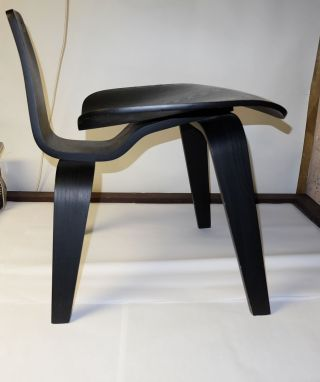 Eames Dcw Lounge Chair Design Within Reach Black Mid - Century Modern photo