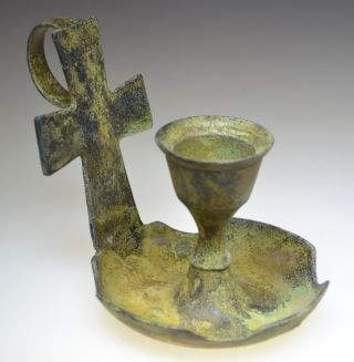 Byzantine Bronze Candle Holder photo