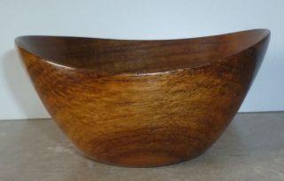 Vintage Danish Teak Wood Small Bowl Handmade Mid Century Modern 4 1/4