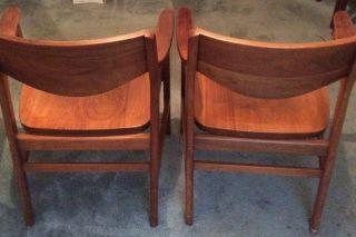 Vintage W.  H.  Gunlocke Chair Co.  Walnut Chairs photo