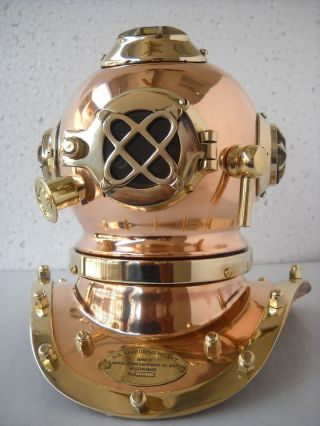 Deep Diving Scuba Style Vintage Retro Mini Divers Helmet Costume Collectibles Ne photo