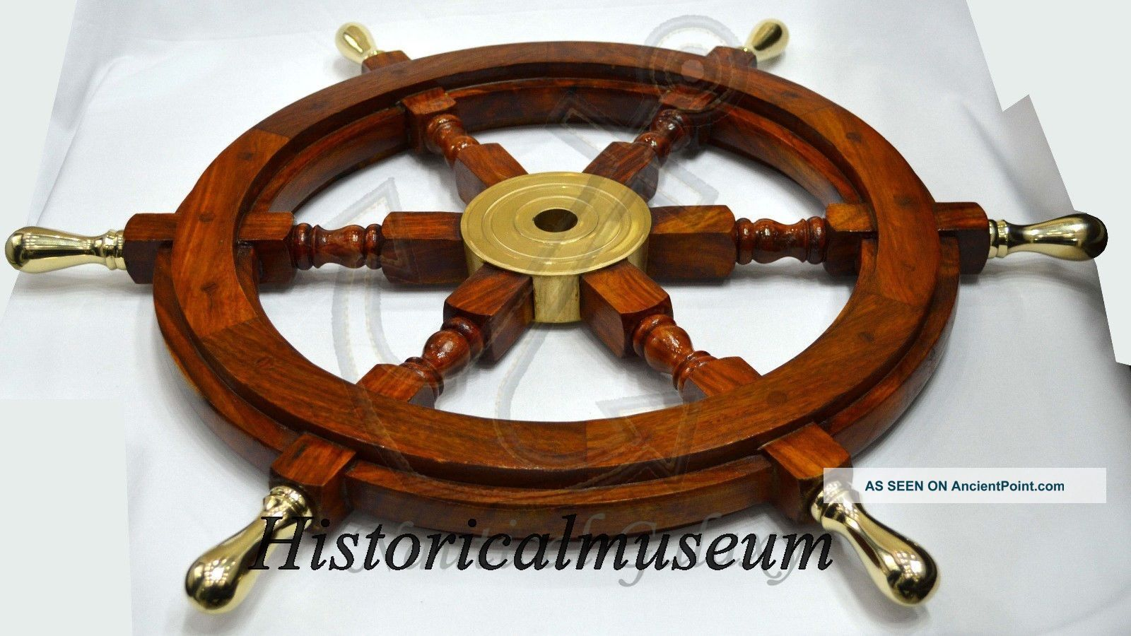 Nautical Decoration Beach Home Rudder Wall Hanging Decor Wood Boat Ship Wheel18