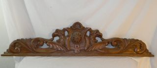 Vintage Architectural Door Header Pediment W 2 Birds Eagles Very Fancy 52
