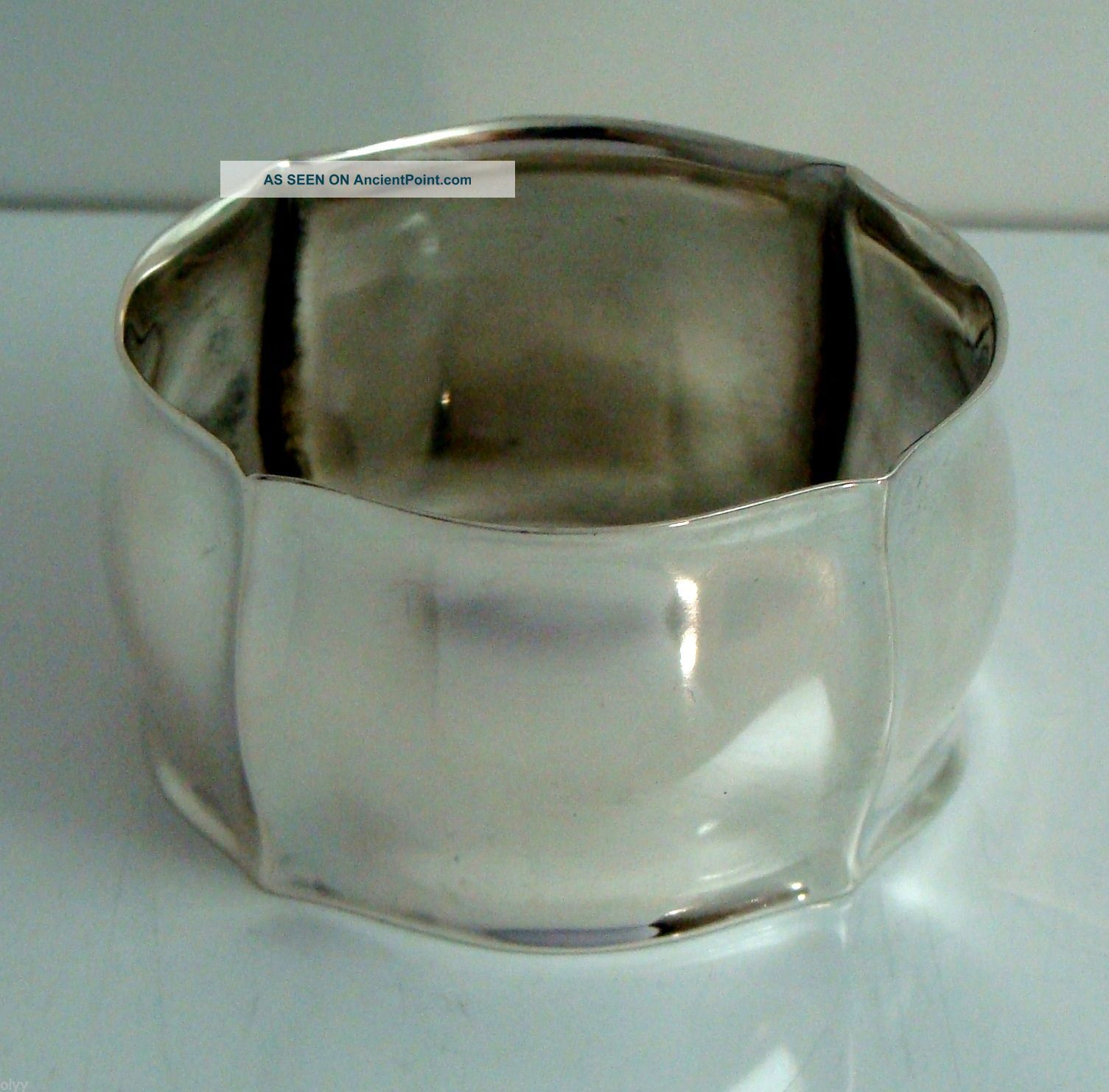 Vintage 830 Silver Franz Scheuerle Fancy Napkin Ring Germany Germany photo
