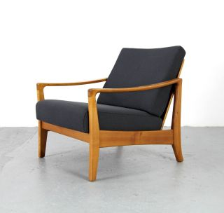 Mid Century Easy Chair 50s 60s | Danish Modern Kirschholz Sessel 50er 60er No.  1 photo