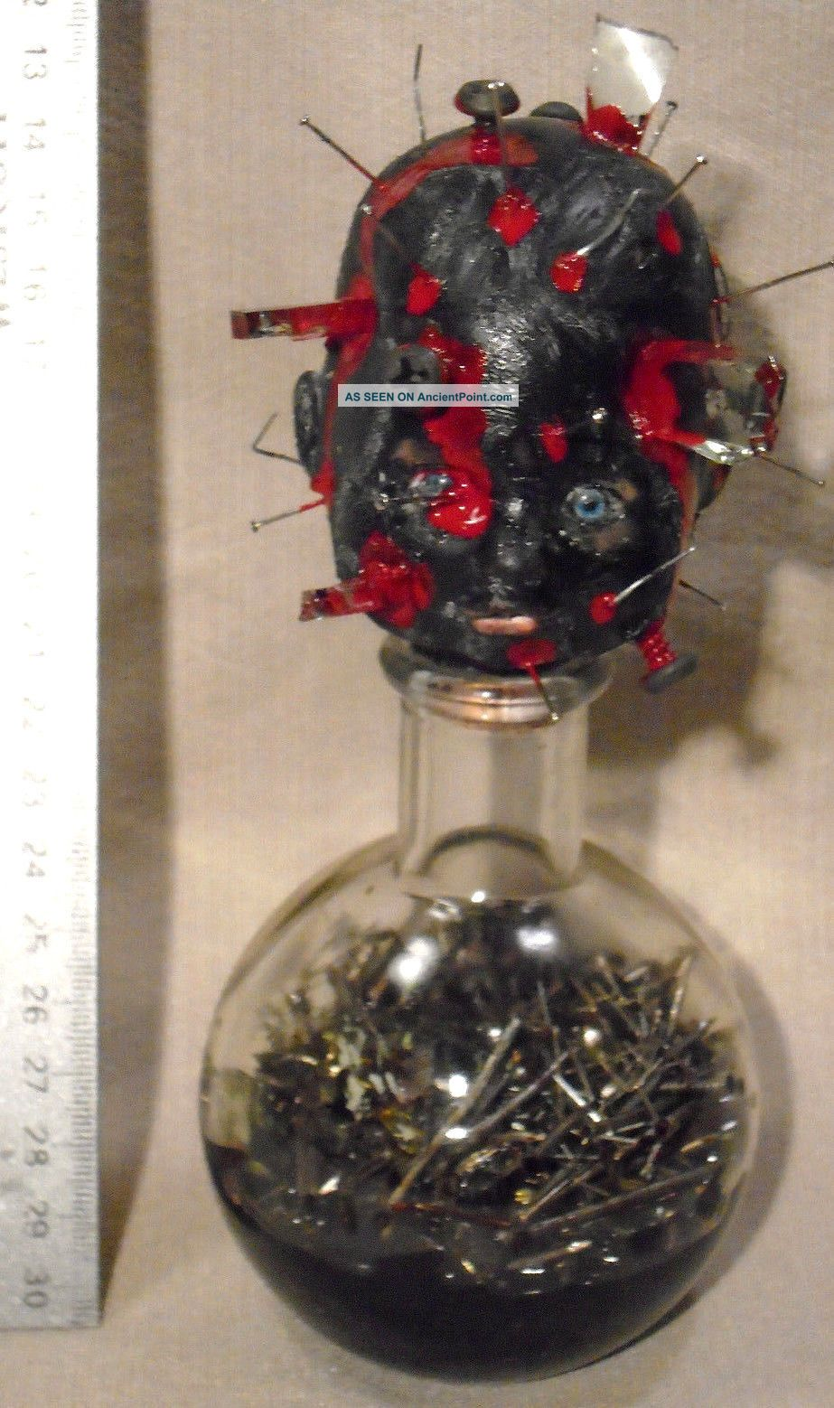Haiti Vodou (voodoo) BoutÈy Zengendo Black Magic Bottle Of The