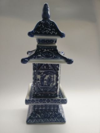 Collecting Antique Chinese Blue And White Porcelain Layered Tower Subtle Role photo