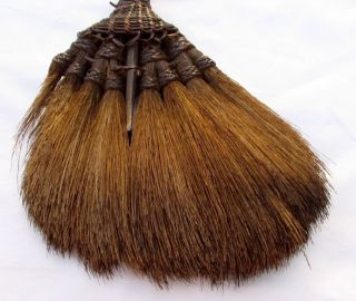 Vintage Handmade Hand - Bound Rattan Grass Besom Hearth Broom Thailand C.  1920 - 1940 photo