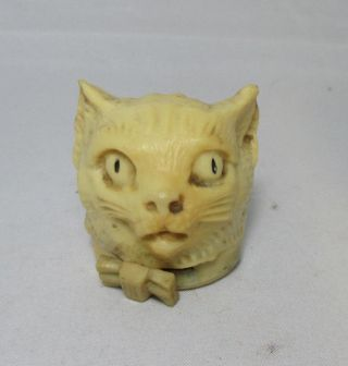 Celluloid Kitty Cat,  Tape Measure; Antique C1920 Figural photo