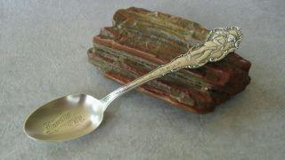 Vtg.  Antique Durgin Sterling Silver Souvenir Spoon First Governor Kansas Rare photo