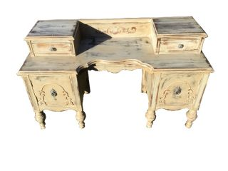 Shabby Chic Style Dressing Table / Vanity Circa Early To Mid 1900 ' S photo