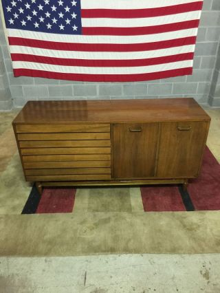 Mid - Century Danish Modern Style American Of Martinsville Credenza Server Cabinet photo