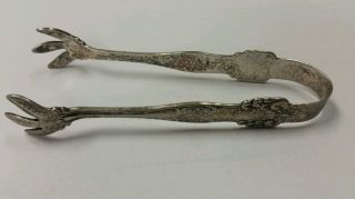 American Sterling Co Antique Sugar Tongs Sterling Silver.  95 Oz 4.  5