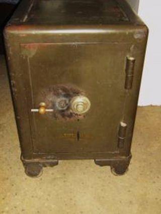 Antique Mosler Cast Iron Safe Floor Safe photo