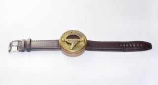 Wrist Watch Sundial Compass - Wrist Band Compass - Hand Item Marine Decor Item Gift photo