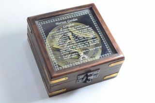 Sundial Compass With Wood Mirror Box Marine Compass Gift Item Home Decor Item photo