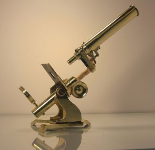 Antique All Brass Stanley Railway Approach Microscope photo