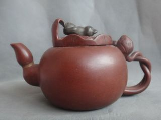 Chinese Old Handmade China Yixing Zisha Pottery Teapot photo