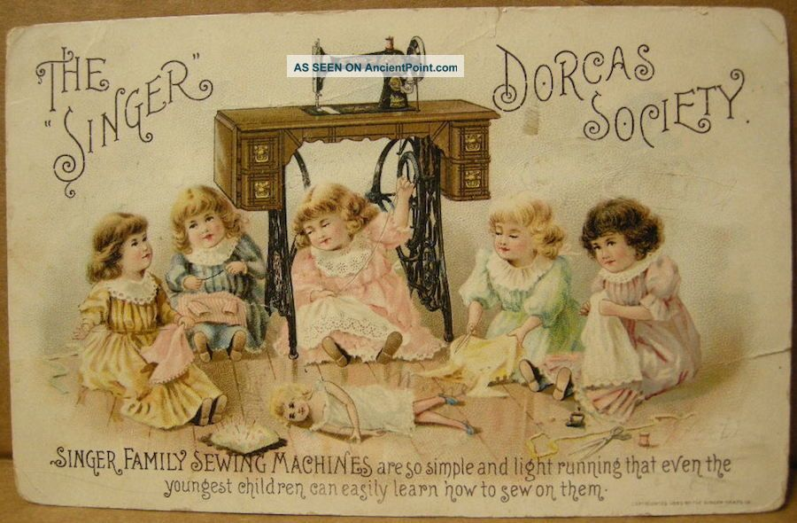 Parkersburg,  Wv.  Singer Sewing Machine Trade Card.  C1890.  T.  J.  Gibson,  Agt.  Nor Sewing Machines photo
