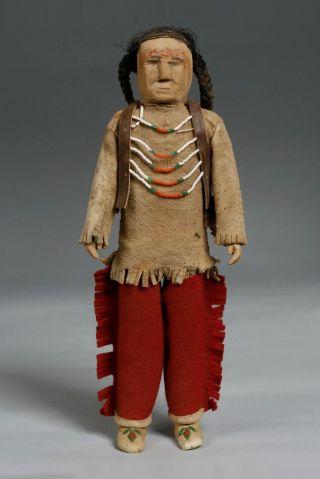 Antique Native American Indian Beaded Dolls/ Cloth,  Wood,  Hide,  Velvet,  Beadwork photo