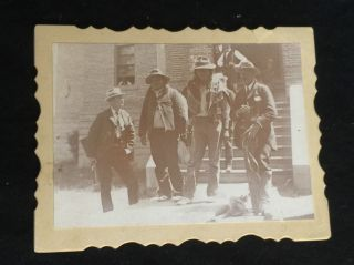 1895 Native American Photo Two Of The Indian Murder Gang W/ Armed Officials Orig photo