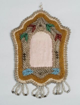 Antique Native American Indian Iroquois Beaded Picture Frames / Early 20th C. photo