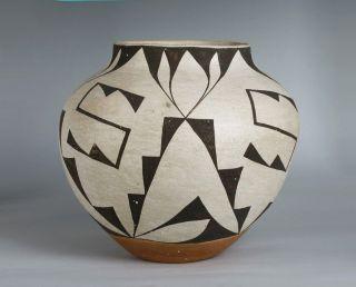 Large Native American Indian Polychrome Acoma Pottery Olla Pot/ S.  Vallo/ Nr photo