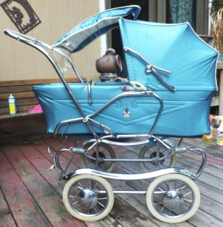 Gendron Baby Carriage Vintage 1950s Stroller photo