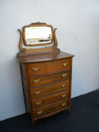 Victorian Chest Of Drawers With Swivel Mirror 2988 photo