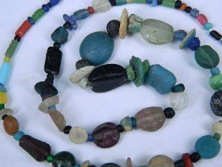 Ancient Glass Beads Strand Roman 200 Bc Be2037 photo