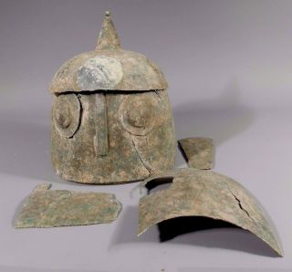 Western Asiatic Or Eastern Mediterranean Bronze Armour Elements 200 Ad - 1000 Ad photo