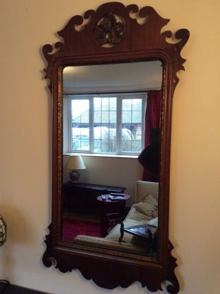 Late 18th Early 19th Century Georgian? Hall Mirror.  Gilded photo