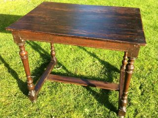 Late 17th Early 18th Century Oak Side Table / Hall Table.  Country Furniture 16th photo