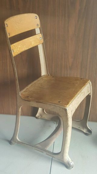 Vintage American Seating School Chair Kids 13 Envoy Childs Small Steampunk photo