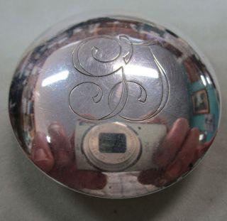 Vintage Sterling Silver.  800 Trinket/pill Round Box photo