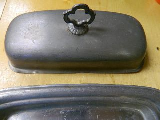 Vintage International Pewter Co.  Butter Dish With Lid No.  27787 Antique photo