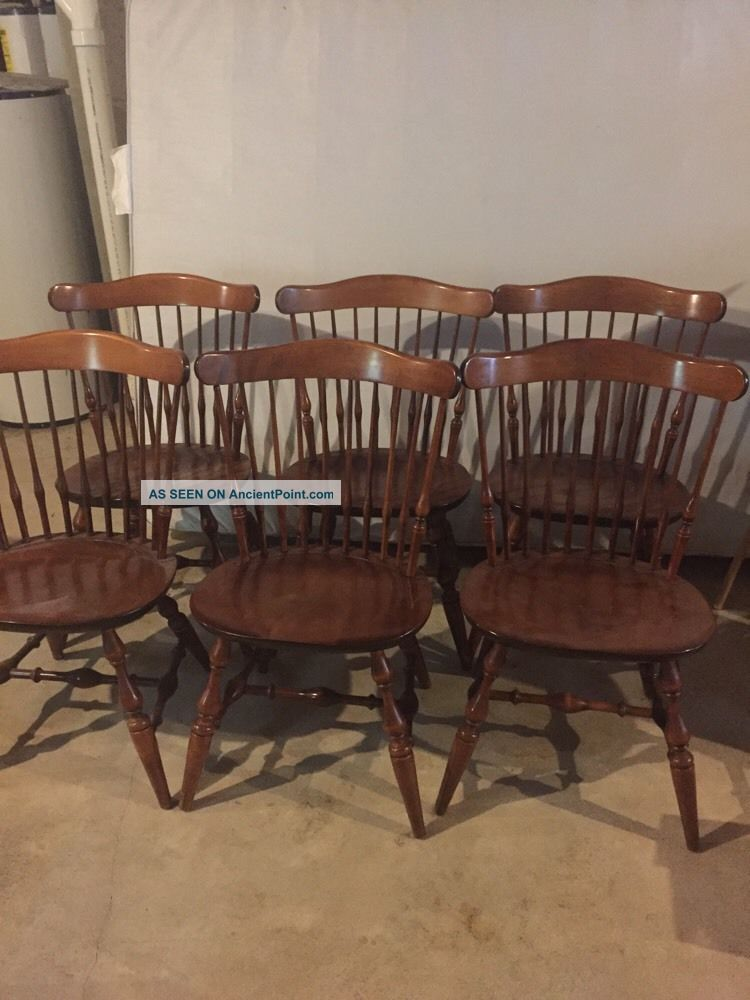 Nichols And Stone Dining Room Chairs Solid Maple Post-1950 photo