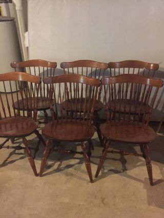 Nichols And Stone Dining Room Chairs Solid Maple photo